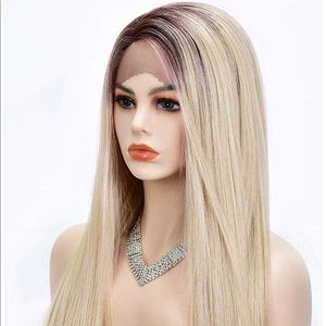 Blonde Lace Front Wigs Dark Roots Ombre Wig